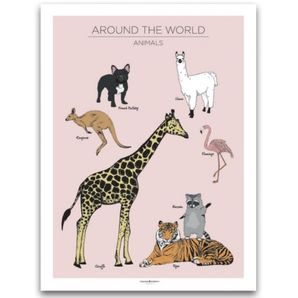 Animals Poster Rosa