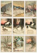 Klippark A4 Vintage Christmas Greetings